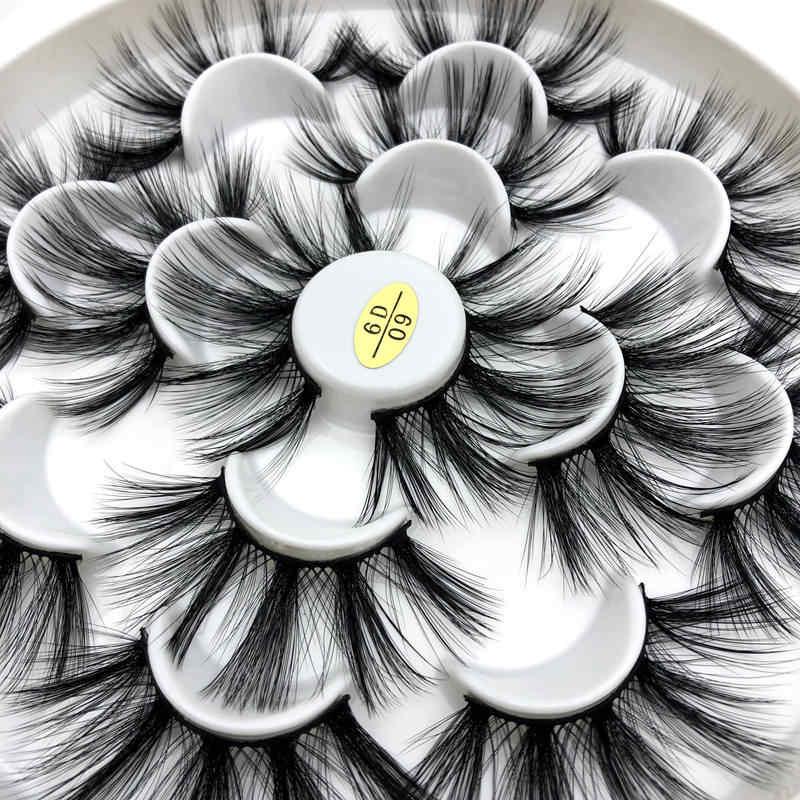 Mikiwi 3/7 пар с фокусным расстоянием 25 мм 5D густые ресницы накладные ресницы длинные макияж искусственной норки ресницы, наращивание ресниц Накладные ресницы разные модели