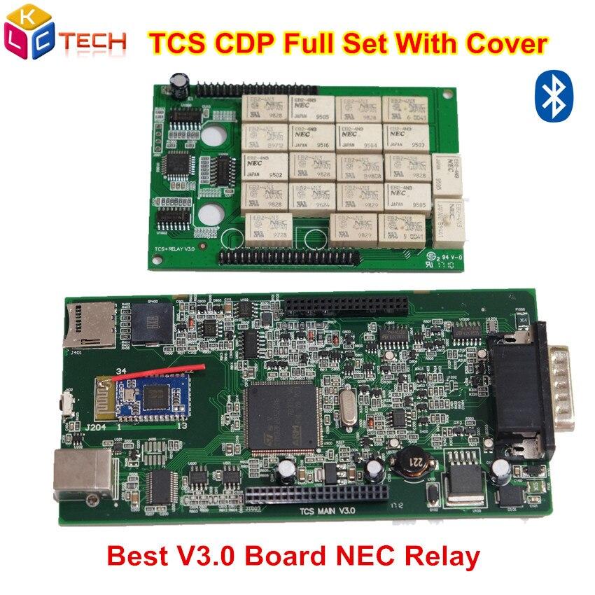 Цена за 5 шт./лот NEC Реле V3.0 2014.2/2015. R3 новый VCI DS TCS CDP Pro Plus BT со светодиодной Кабели OBD2 диагностический сканер для автомобилей/грузовиков