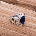 Comercio al por mayor anillo de Plata plateado, joyería de plata, negro anular hueco/chlakysa dytamqaa LQ-R552