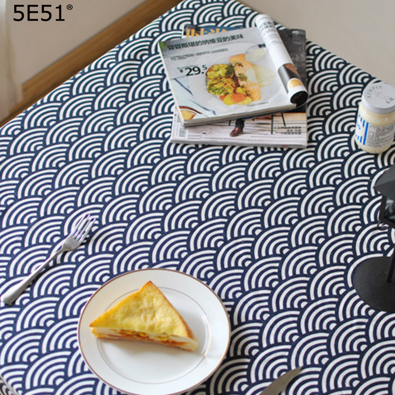 Japanese Style Furoshiki Diablement Fort/tablecloth Wave Printed/Many Uses