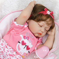 Bebes Reborn Menina NPK Doll real baby silicone dolls toys for children gift play house toys boneca reborn