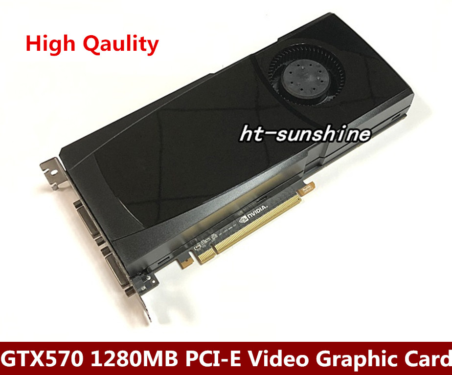 Orighinal nVidia Geforce GTX570 1280MB PCI-E Video Graphic Card PCI-E X16 2.0 Video Card Support mini HDMI /2*DVI видеокарта asus geforce gtx 1060 1620mhz pci e 3 0 6144mb 8208mhz 192 bit dvi hdmi hdcp rog strix gtx1060 o6g gaming