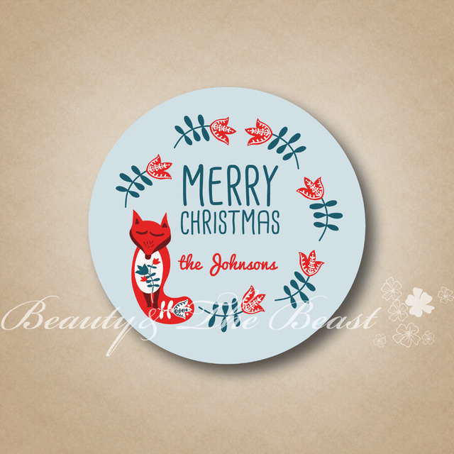 Personalized bottle stickersmerry christmas tagsgift labels for christmascupcake toppers