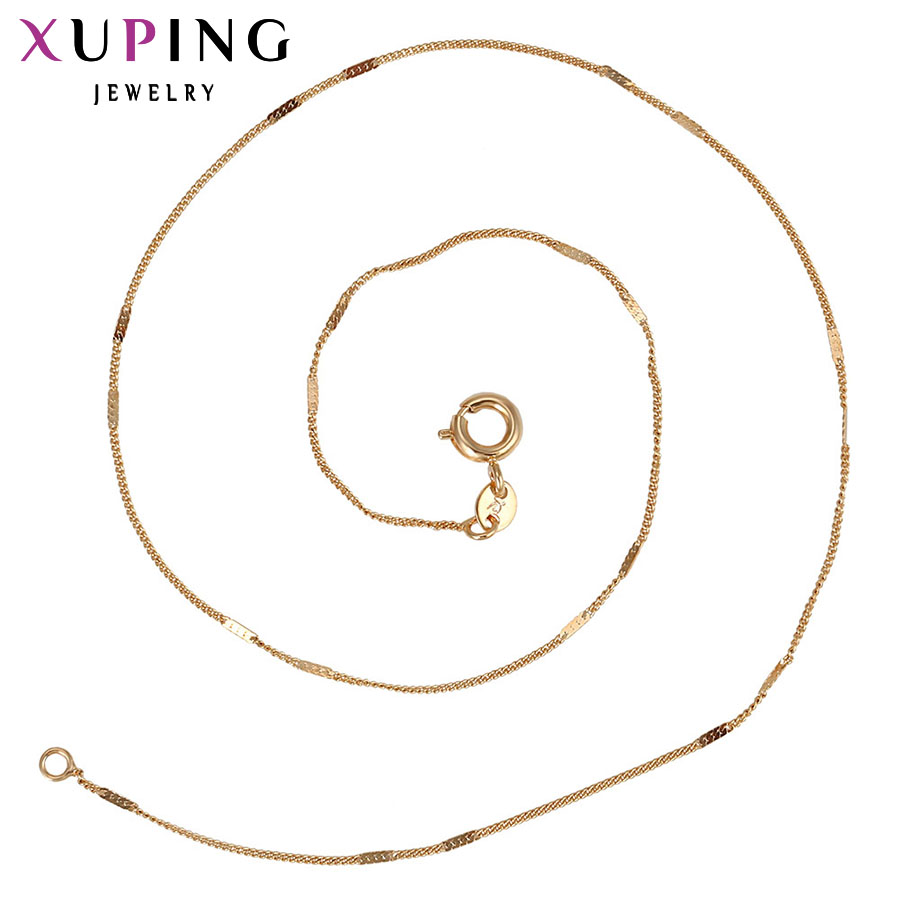 11.11 Xuping Fashion Necklace New Design Long Necklace Gold Color Necklace Unisex Chain Jewelry Top Sale Gift S13.1-42638