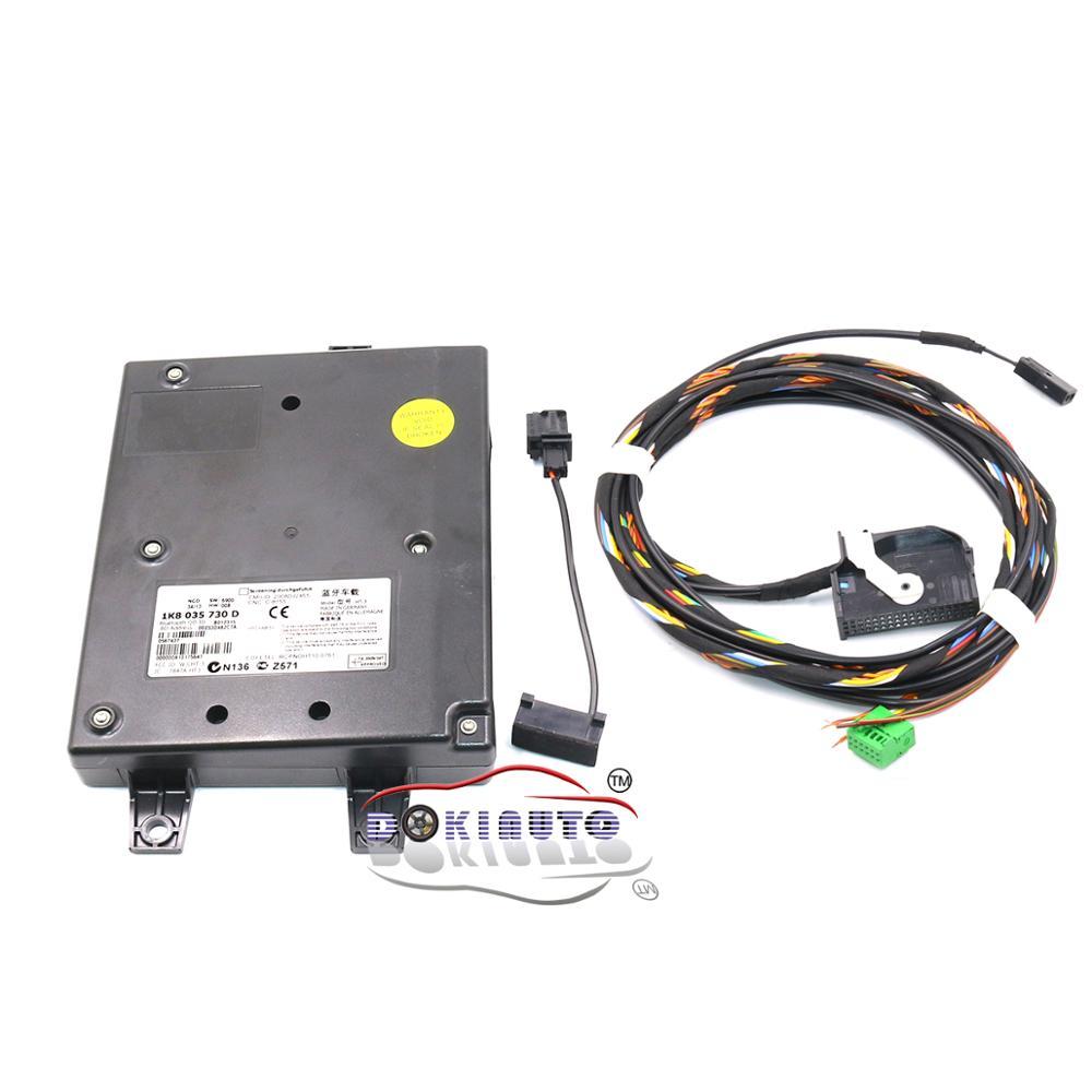 Модуль 9W2 Bluetooth и обычный провод с микрофоном 1K8 035 730 D для VW Golf MK6 Jetta MK5 Fit RCD510