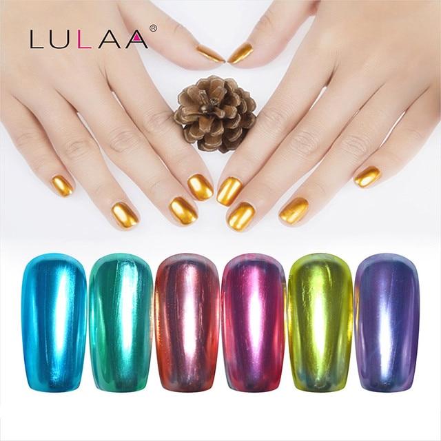 6 Colors 4pcs/set Nail Art Nail polish Kit Mirror Varnish Top Coat ...
