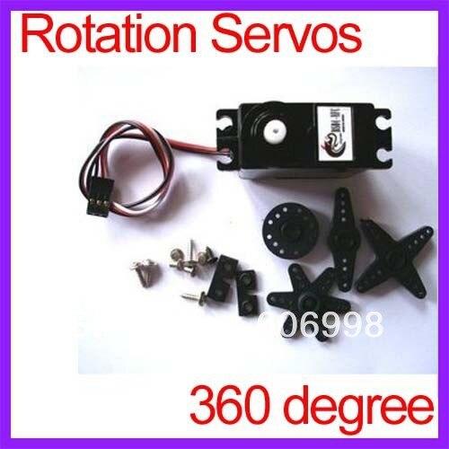 360 degree Continuous Rotation Servos DC Gear Motor Smart Car Robot Torsion 5.5kg/cm DC 4.8V-6V Free Shipping