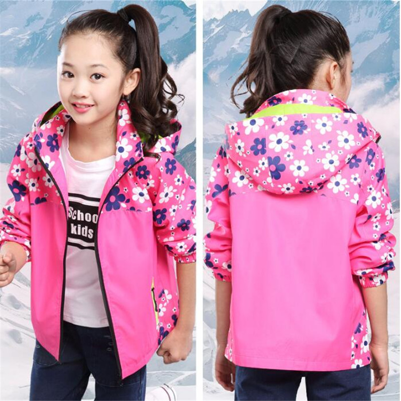 Children Clothing 2017 Girls Jacket Outerwear Baby Coat Kids Spring Autumn Clothes Windbreaker Hoodies