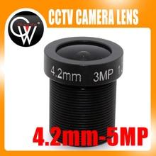 100pcs/lot 3MP 4.2mm lens 1/2.5″ HD Fixed Iris M12 MTV IR Board CCTV Lens for Security IP Camera cctv camera