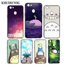 Silicone Phone Bag For OPPO F5 F7 F9 A5 A7 R9S R15 R17 Black Soft Case Studio Ghibli Totoro Style