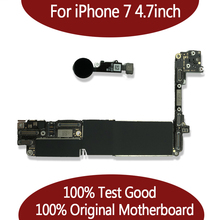 100% Original unlocked for iPhone 7 4.7inch Motherboard without Touch ID,for iphone 7 Mainboard with Chips,