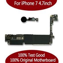 100% оригинальная разблокированная материнская плата для iPhone 7 4,7 дюйма без Touch ID, материнская плата для iphone 7 с чипами,