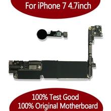 100% sbloccato originale per iPhone 7 da 4.7 pollici Scheda Madre senza Touch ID, per iphone 7 Mainboard con Chip,
