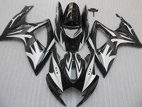 Nn Hot Sales,For 2006 2007 SUZUKI GSXR 600 750 K6 black white GSXR600 GSXR750 06 07 R600 R750 Motorbike ABS Fairing Kit