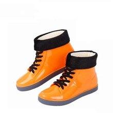 Aleafaliing colorful rain boots waterproof flat shoes woman rain woman water flower rubber ankle boots slip on botas myl333 стоимость