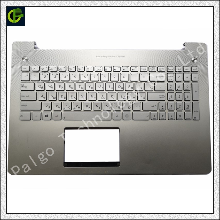 Russian Backlit keyboard for ASUS N550 N550JV N550JK N550JA RU silver With C shell C cover case box frame