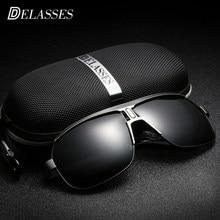 Metral UV400 DELASSES Vintage Marca Designer Óculos De Sol Dos Homens  Polarizados oculos de sol óculos de Sol óculos De Condução. 13308ab3cb