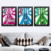 Star Wars Pop Art Light Saber Pop Art Wall Art Paint Wall Decor Canvas Prints Canvas Art Poster Oil Paintings No Frame