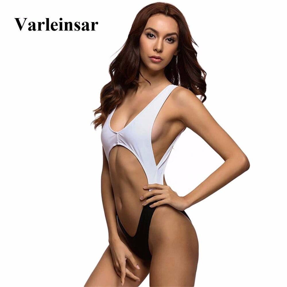 2018 New tummy cut out Sexy one piece swimsuit for women swimwear Female Monokini