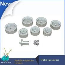 9 unids/set Fuerte de Aleación de Aluminio de 26mm ~ 44mm Bisel Reloj Muere Establecido Para RolexWatch y TudorWatches Caja De Cristal prensa