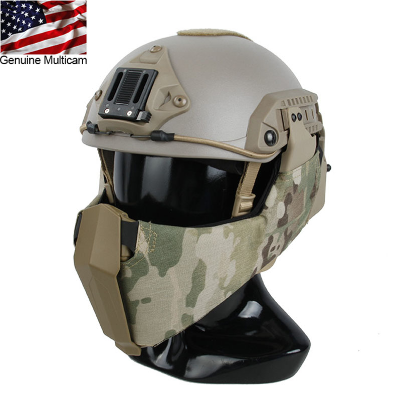 Tactical Helmet Guide Rail Connection Multicam Half Face Mask for OC Highcut Maritime Helmet fire maple sw28888 outdoor tactical motorcycling wild game abs helmet khaki