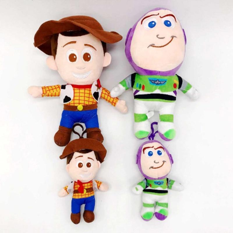 15cm 25cm Toy Story 4 Woody Buzz Lightyear Soft Plush Toy Stuffed Doll Figure Cartoon Toys For Children Gift