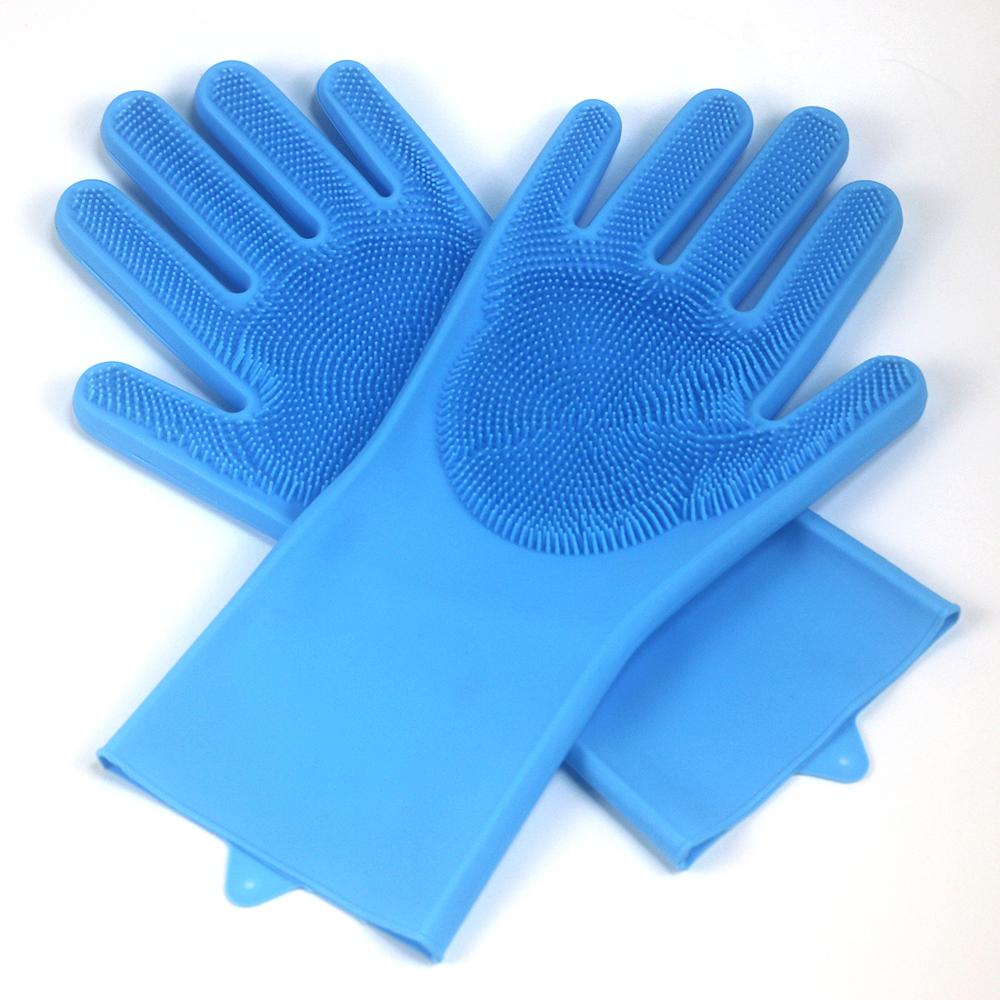 Silica Gel Dishwash Gloves Magic Gloves Kitchen Cleaning Gloves Multifunctional a pair of gloves in Household Gloves from Home Garden