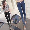 Leg Tassel Jeans Women Denim Skinny Pants High Waist Jeans Stretch Pants Feet Blue Jeans Pants Trousers Casual VintagPencil Pant
