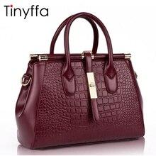Tinyffa echtledertasche 2017 Frauen tasche Frauen messenger bags handtaschen frauen berühmte marken Crocodile schultertasche Hohe qualität