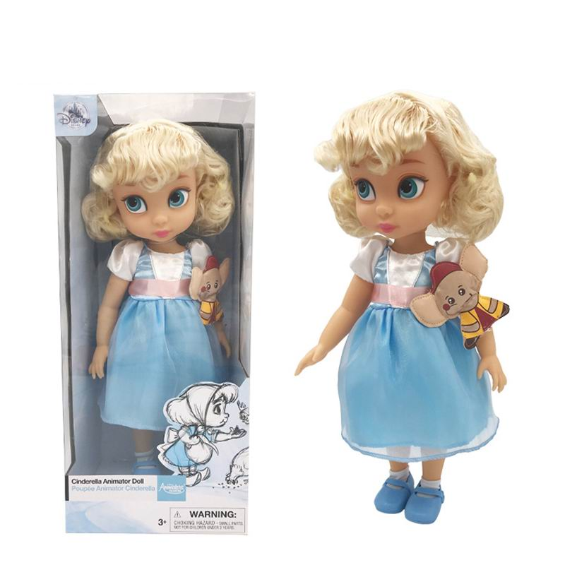 Original Disney Princess Cinderella Little Girl Doll Gift High Quality Beautiful Princess Snow White Toys Action Toy Figures
