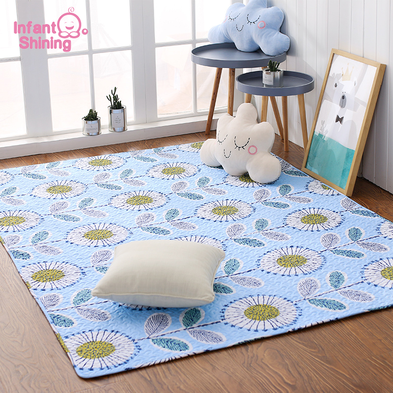 Infant Shining Tatami Baby Play Mat Nordic Style Cotton Carpet