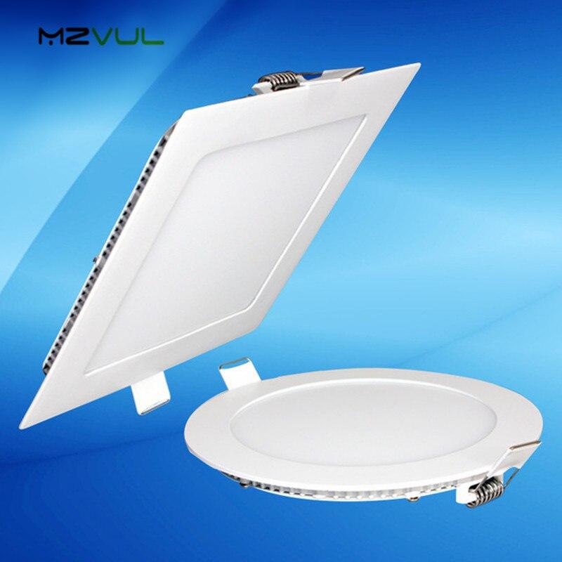 Ультра тонкий дизайн 3 Вт 4 Вт 6 Вт 9 Вт 12 Вт 15 Вт 18 Вт 24 Вт светодиодный потолочный встраиваемый светильник/тонкий круглый квадратный плоский панельный светильник flat panel flat round led lightsflat light   АлиЭкспресс