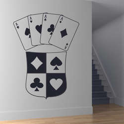 DCTAL наклейка по тематике казино азартные игры наклейки виниловые наклейки на стену Декор Паредес Фреска 19 цветов выбрать наклейка по