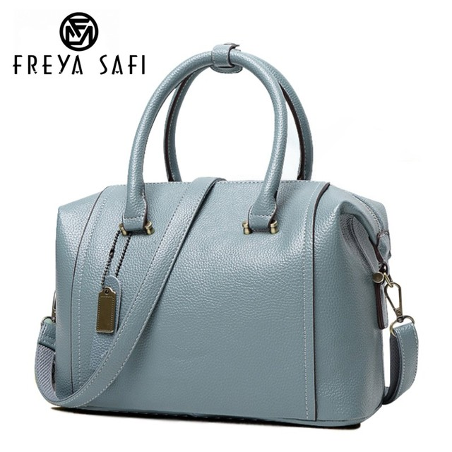 Freya Safi New women leather bag Women messenger bags PU tote handbags  women brands high quality shoulder bag Boston bag cd726495c0ff0