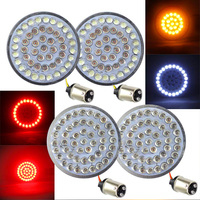 FADUIES Motorcycle 2 LED Turn Signal Kit For Harley Touring Motorcycle (Front (1157) and Rear (1157) LED Turn Signal Kit