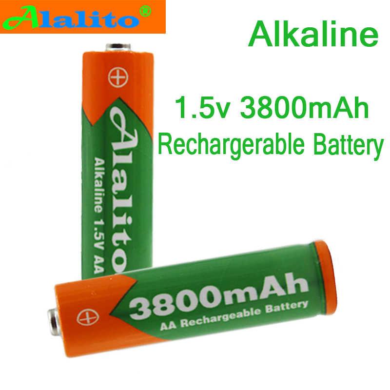 10 шт/шт ALalito AA перезаряжаемая батарея 3800mah 1,5 V Новая Щелочная перезаряжаемая батарея для led светильник игрушки mp3