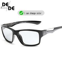 Hot Sale Photochromic Sunglasses Men Polarized Chameleon Discoloration Sun Glasses Outdoors UV400 Accessories