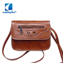 Cathylin 2016 Women' s Cross Bag High Quality Style Woman Messenger Bag Soft Woman Pu Leather Bag