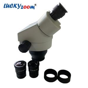 Brand Professional 7X-45X Binocular Stereo Microscope Head Binocular Head For Microscope Eyepiece WF10X/20MM Stereo Microscopio