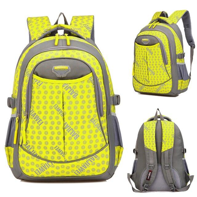 Waterproof Students School Bag Big School Backpacks Boys Girls ...
