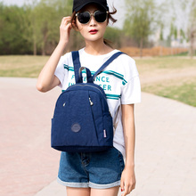 2019 Nylon Women Backpack Fashion Small School Bags Casual Travel Mujer Mochilas Waterproof Backpacks Hot sale Back Pack Bag цена в Москве и Питере
