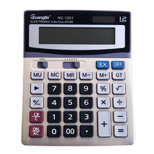 Guangbo Calculator High Quality Solar Or Battery School Supplies Office Useful Big Display Desktop Portable Calculators NC-1251