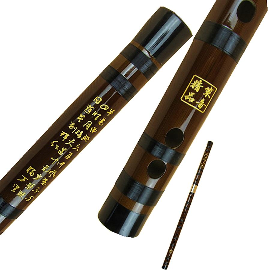 Chinese Bitter Bamboo Flute High Quality Professional Transversal Flauta CDEFG Key  Black Ox Horn Open Hole Dizi  Bamboo Flauto