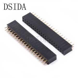 10PCS/Lot Female Pin Header Strip 20 Pin Pitch 2.54 mm Double Row Female Pin Header 2x20 2*20 PCB Connector