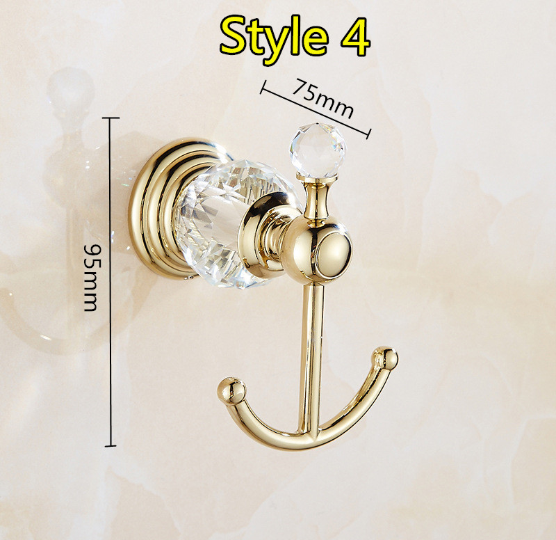 Luxury brass Bronze gold Wall Mount Bathroom Accessories Holder Storage set