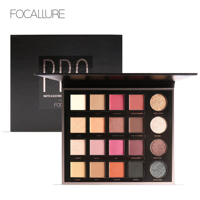 FOCALLURE Makeup Palette 20 Colors Shimmer Matte Pigment Eye Shadow Cosmetics Smoky Glitter Eyeshadow Palette 9 full colors shimmer matte eye shadow palette pigment glitter eyeshadow palettes nude shadows cosmetics korean makeup eyes