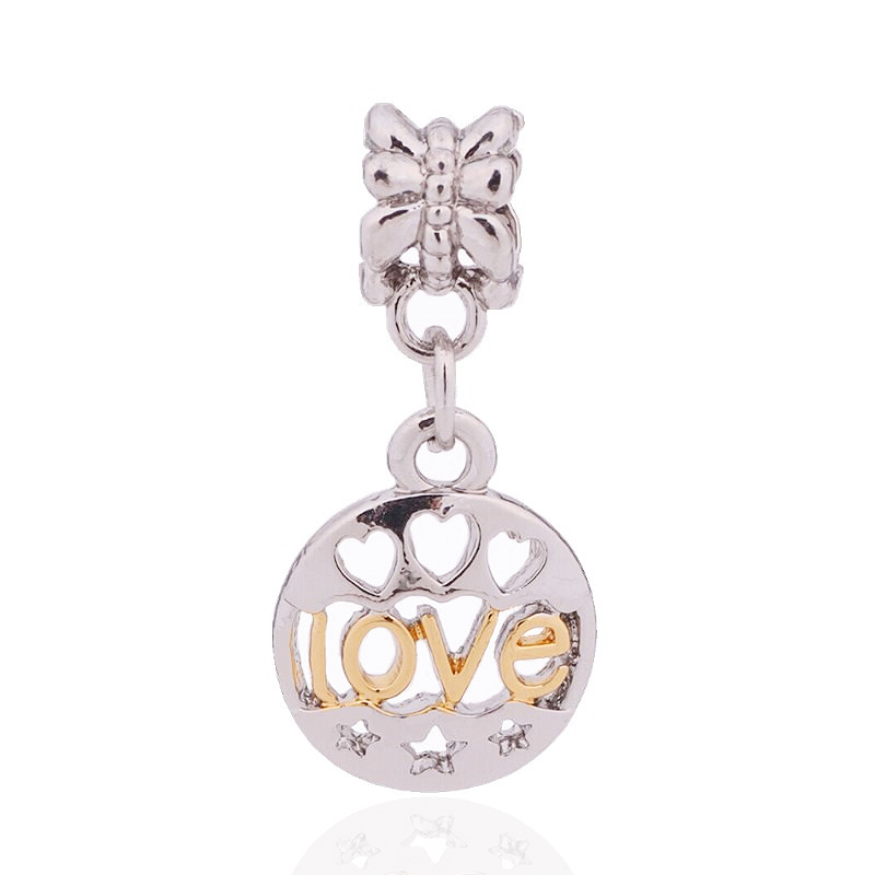 0de86c38ca84 Envío libre del color de plata lindo del amor del encanto del grano colgante  Pandora pulsera y brazalete DIY joyería