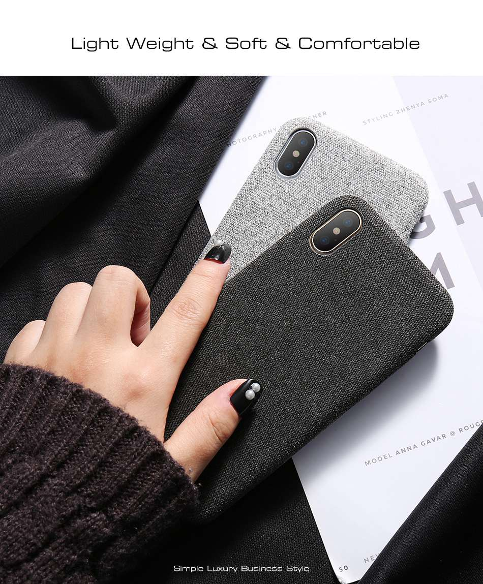HTB17.QtuKSSBuNjy0Flq6zBpVXak - KISSCASE Cloth Patterned Case For iPhone X 10 Simple Vintage Business Case For iPhone X 6S 7 8 Plus Capinhas Ultra Slim Fashion