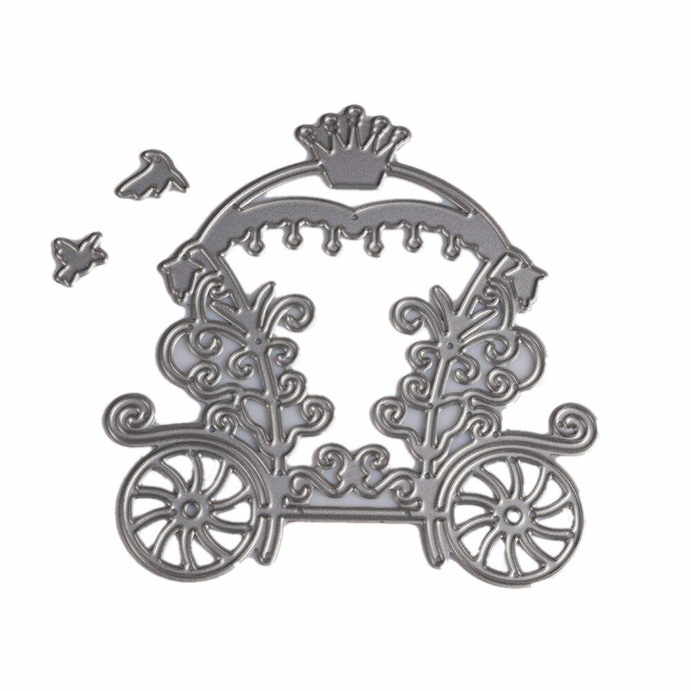 Scrapbook paper cart - Diy Cute Fairy Tale Car Scrapbooking Christmas Xmas Ornament Cutting Dies Stencil Scrapbook Album Paper Card