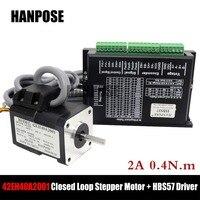 Stepper Motor 17HS4401 Hybrid Step servo motor NEMA 17 2A 0.4N.m + HBS57 Closed Loop Servo Driver CNC Controller Kit